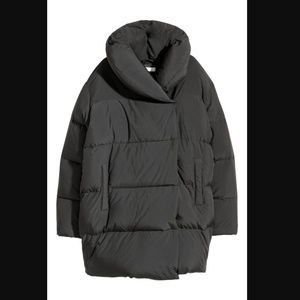 H&M Black Oversize Down Jacket 8